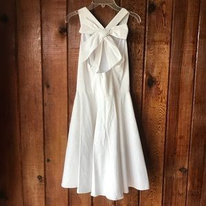 Jessica Simpson white bow skater dress size 2